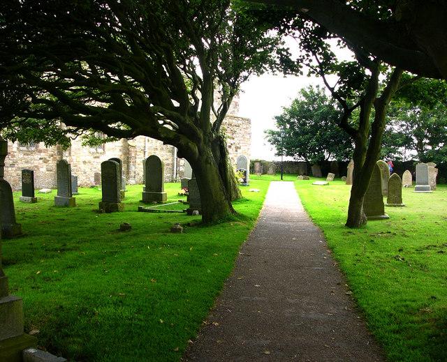 St Mary's churchyard, Holy Island