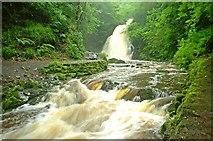 J3996 : Glenoe waterfall (34) by Albert Bridge