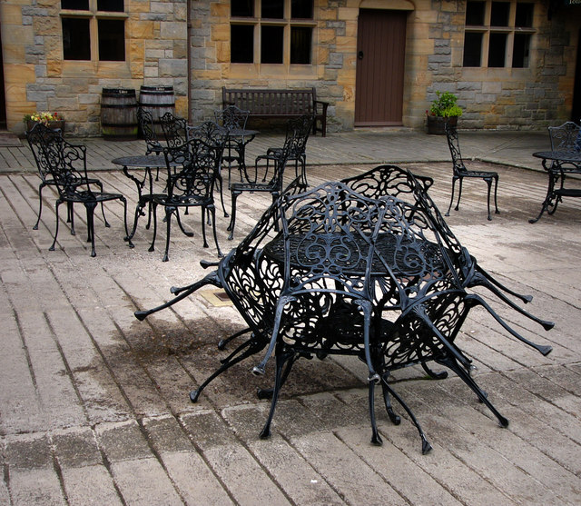 Courtyard of the visitor centre Cragside