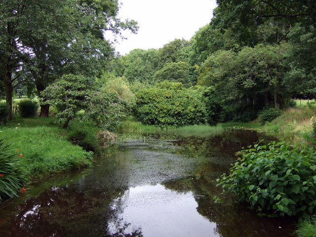 Ornamental water features at Old Cilgwyn