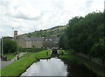 SE1115 : Huddersfield Narrow Canal - viewed from Market Street, Milnsbridge by Betty Longbottom