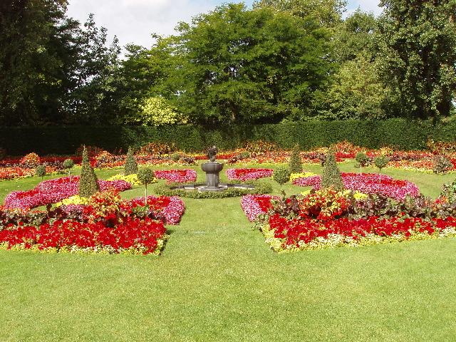 Flower beds in Queen Mary's Garden, Regent's Park