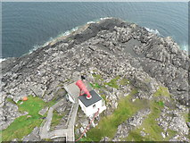 NM4167 : Ardnamurchan: fog horn from above by Chris Downer