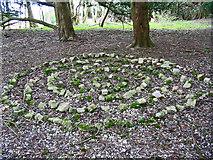 SU1420 : Stone Maze Breamore Hampshire by Clive Perrin