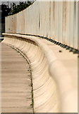 TA1228 : Humber Riverside Wall and Fence by Andy Beecroft