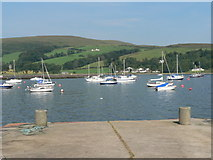 NS0767 : Port Bannatyne: the end of the pier by Chris Downer