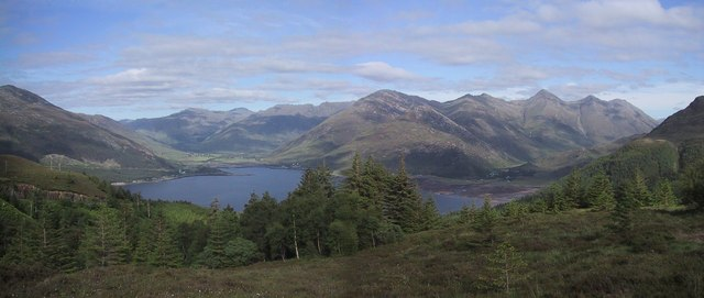 Loch Duich and the Five Sisters from Mam Ratagan