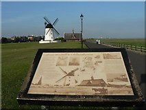 SD3727 : Lytham: windmill and lifeboathouse information by Chris Downer