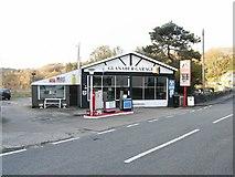 SH5637 : Glanaber Garage, Borth y Gest, Porthmadog by Leslie Watson