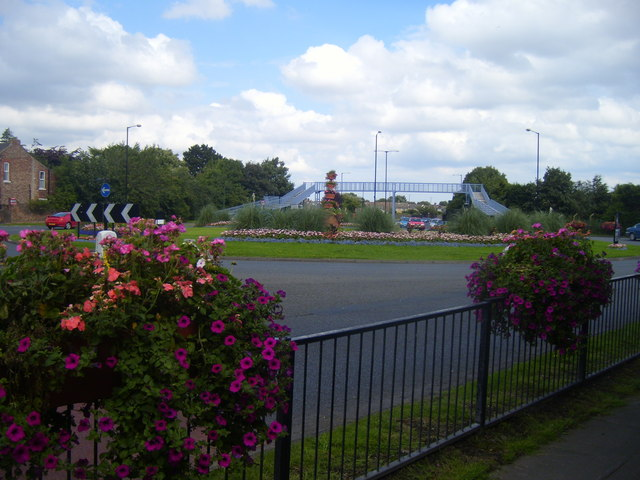Floral Roundabout on the Stockton Ringroad at Norton
