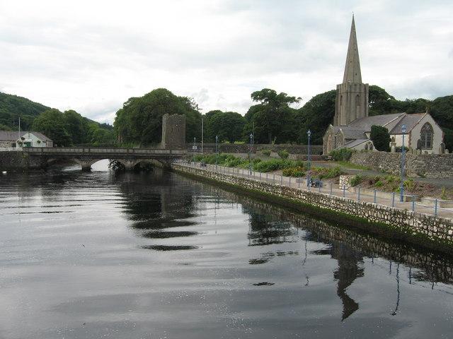 Glenarm River and St Patrick's Church