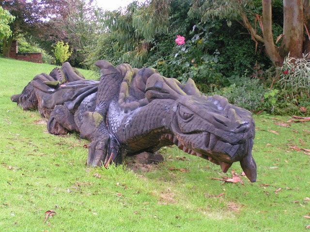 Dragon garden ornament © andy dolman cc-by-sa/2.0 ...