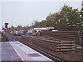 TQ1867 : Preparing for tracklaying at Surbiton by Stephen Craven