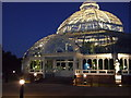 SJ3787 : Palm House at night. by Colin Pyle