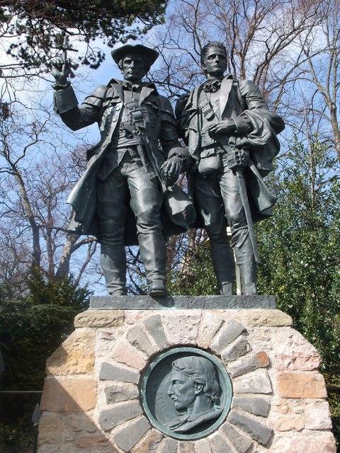 Statue of Alan Breck & David Balfour