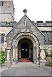 SD6178 : St Mary's Church, Kirkby Lonsdale, Cumbria - Porch by John Salmon