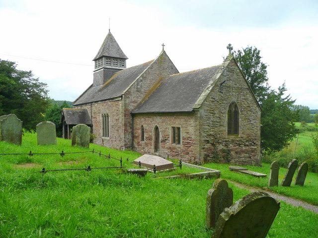 St. Michael's of the Fiery Meteor church, Llanvihangel-Ystern-Llewern