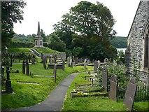 SH5371 : St Mary's churchyard by Robin Drayton