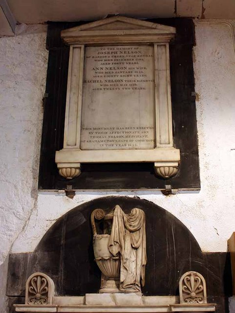 Holy Trinity Church, Kendal, Cumbria - Wall monument