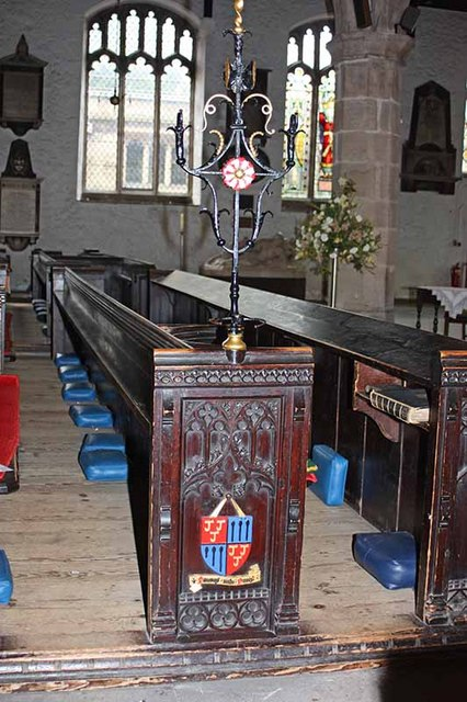 Holy Trinity Church, Kendal, Cumbria - Sword rest and pew