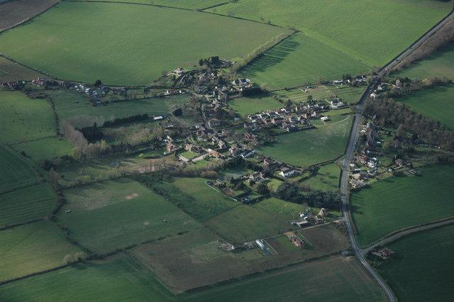 Kinsham from the air