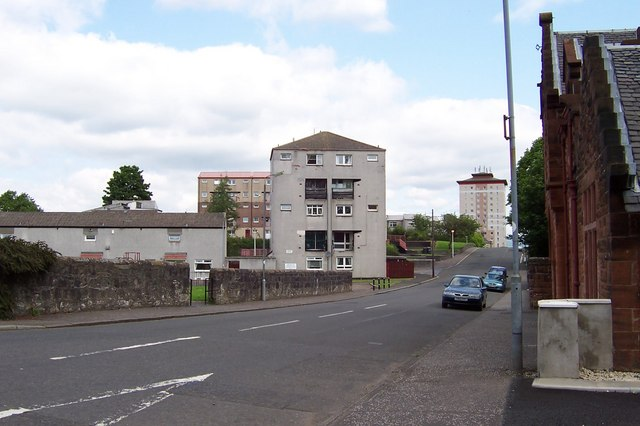 Dimity St from the junction with Campbell St, Johnstone