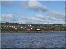 SY2591 : Seaton Tramway across the River Axe by Sarah Charlesworth
