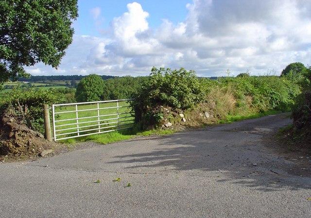 Gateway and lane: Blaenbwlan, Clydau