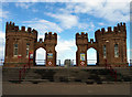 TA3427 : Castellated Building on Withernsea's Sea Frontage by Andy Beecroft