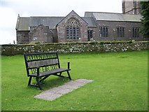 SX7176 : Commemorative seat, Widecombe-in-the-Moor by Maigheach-gheal