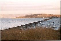 NT1977 : Cramond Island Causeway at High Tide by Sarah Charlesworth