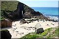SW3523 : The Beach at Nanjizal by Tony Atkin