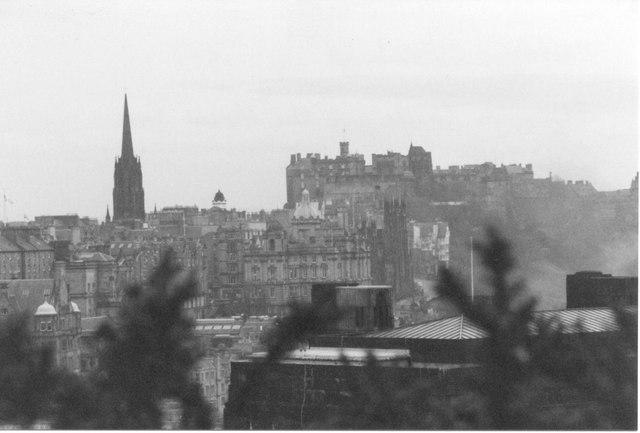 A Wintry View across Edinburgh from Calton Hill