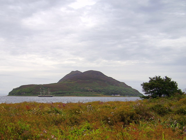 Holy isle from  Innean Beag at Clauchlands
