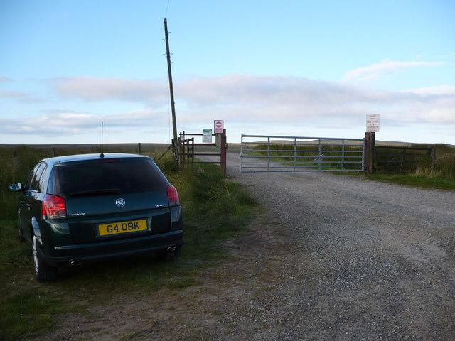 Parking spot at gate to Fish Lake track