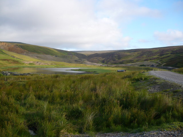 Fish Lake as seen from the near the track junction