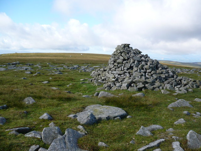 Mickle Fell Cairn - the highest point in County Durham