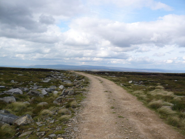 The track across the top of Rogan's Seat