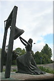 TQ0566 : Statue of Blanche Heriot by David Lally