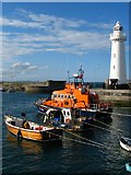 J5980 : Donaghadee lighthouse and lifeboat by Rossographer