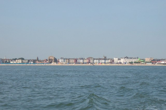 Great Yarmouth Sea Front from Scroby Sands