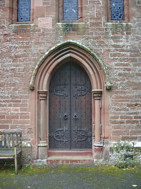 Our Lady and St Wilfred Church, Warwick Bridge, Doorway