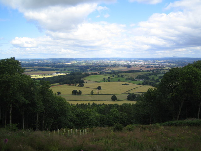 View north from Aconbury Hill