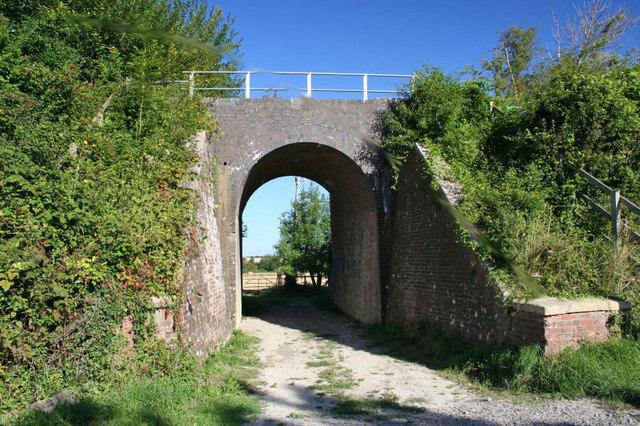 Bridge over the track
