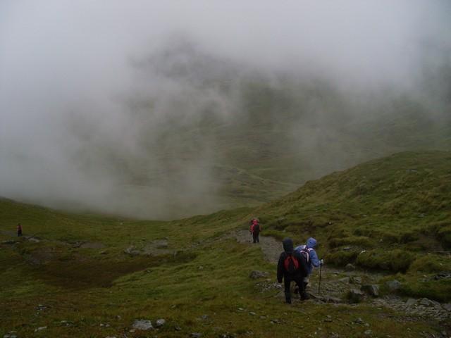 Nearing the summit of Beinn Ghlas