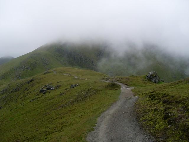 Path on the Ben Lawers ridge