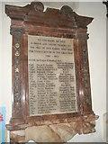 SU7037 : War memorial within St Nicholas, Chawton by Basher Eyre