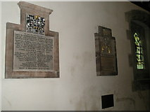 SU7037 : Plaques on north wall of St Nicholas, Chawton by Basher Eyre