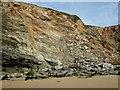 SW8364 : Cliffs, Watergate Bay by Simon Huguet