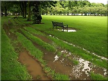 NT2572 : Puddles, The Meadows by Derek Harper